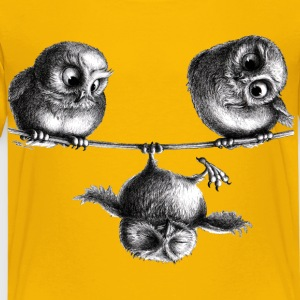 owls - freedom and fun - Premium-T-shirt barn
