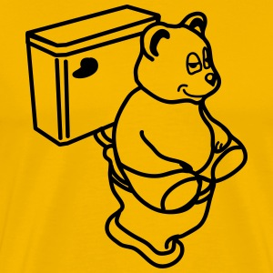 toilet_bear T-Shirts - Men's Premium T-Shirt