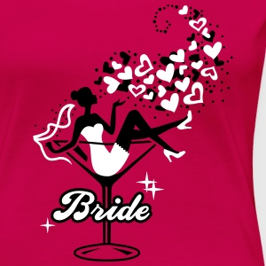 Bride - Braut - Team - JGA - Cocktail - Herz - 2C T-Shirts - Frauen Premium T-Shirt