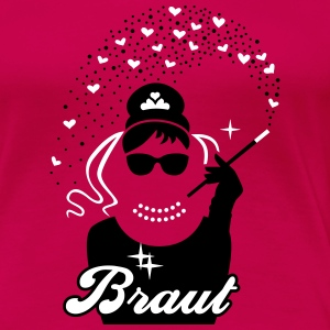 Braut - Bride - JGA - Team - Tiffany - Herz - 2C T-Shirts - Frauen Premium T-Shirt