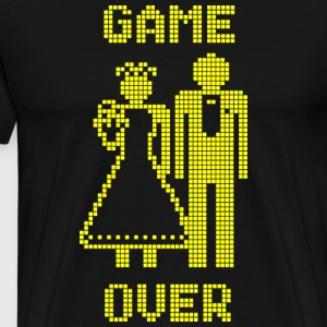 Game Over Old Skool geel T-shirts - Mannen Premium T-shirt