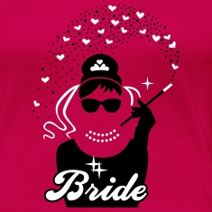 Bride - Braut - JGA - Security - Tiffany - Herz -2 T-Shirts
