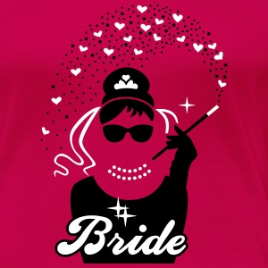Bride - Braut - JGA - Security - Tiffany - Herz -2 T-Shirts - Frauen Premium T-Shirt
