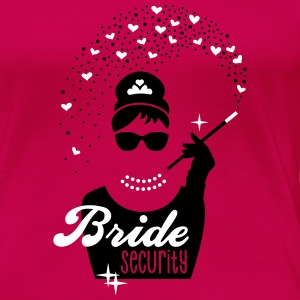 Bride Security - Braut - JGA - Tiffany - Herz -2 T-Shirts - Frauen Premium T-Shirt