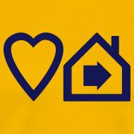 Design ~ Love Progressive House (Symbolic, Navy on Yellow, Ver.2)