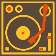 Design ~ I DJ series SPIN ON logo 2-color Flex