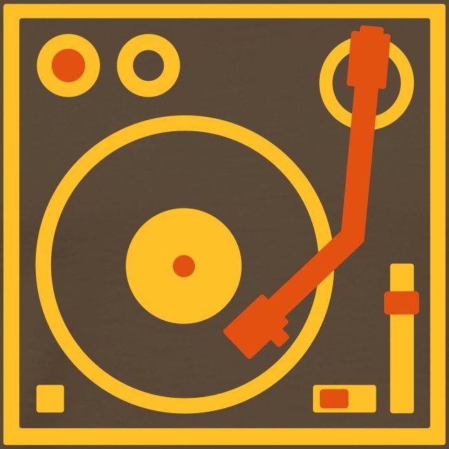 I DJ series SPIN ON logo 2-color Flex