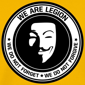 Anonymous - we are legion - Männer Premium T-Shirt