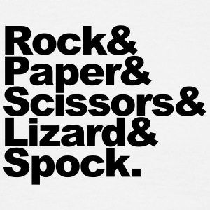 Rock Paper Scissors Lizard Spock T-shirts - Herre-T-shirt