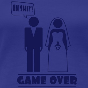 Wedding with baby inside - oh shit - game over T-shirts - Premium-T-shirt dam