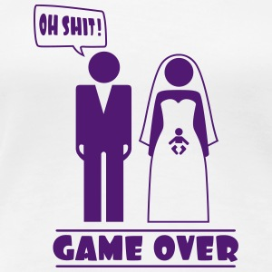 Wedding with baby inside - oh shit - game over T-Shirts - Frauen Premium T-Shirt