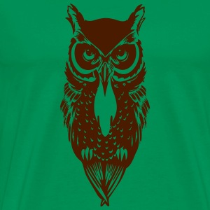Kelly green Owl T-Shirts - Men's Premium T-Shirt