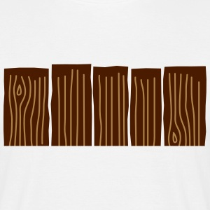 Wood Fence T-shirts - Herre-T-shirt