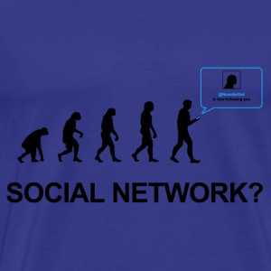 Darwin Evolution of social network - Premium T-skjorte for menn