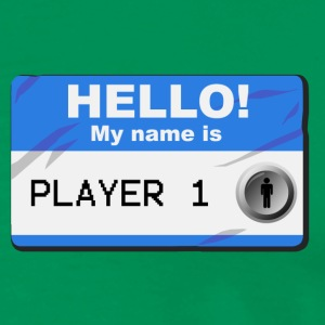 My name is player 1 - Herre premium T-shirt