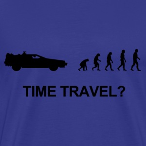 Darwin evolution of time travel Back to the future - Mannen Premium T-shirt