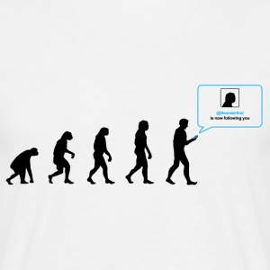 Darwin social network evolution - T-skjorte for menn