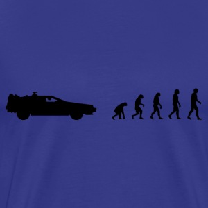 Darwin Evolution and time travel - Mannen Premium T-shirt