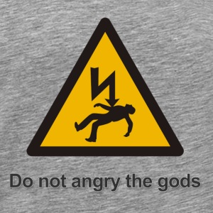 Do not angry the gods - Mannen Premium T-shirt