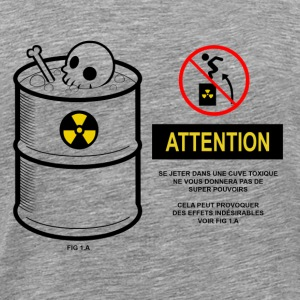 Danger toxic waste - Premium T-skjorte for menn