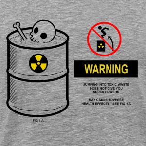 Warning toxic waste - Premium-T-shirt herr