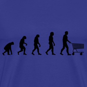 Darwin Evolution and shoping - Camiseta premium hombre
