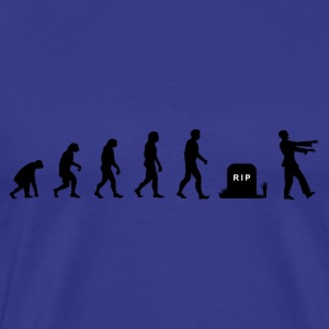 Darwin Evolution and zombies - Herre premium T-shirt