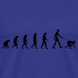 Darwin Evolution and robot - Herre premium T-shirt