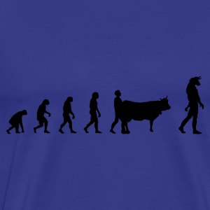 Darwin Evolution and minotaur - Männer Premium T-Shirt