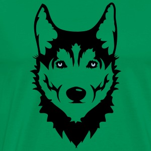 Head of a Siberian Husky dog T-Shirts - Men's Premium T-Shirt