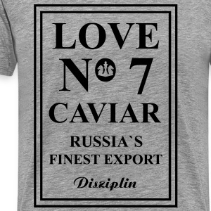 Love No7 Caviar Russi´s Finest Export T-shirts - Mannen Premium T-shirt