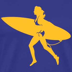 surfing girl T-skjorter - Premium T-skjorte for menn