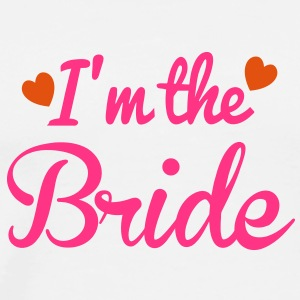 I'm the BRIDE cute little hearts T-Shirts - Men's Premium T-Shirt