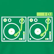 Design ~ I DJ - with 2 Vinyl Turntables - 2 color flex