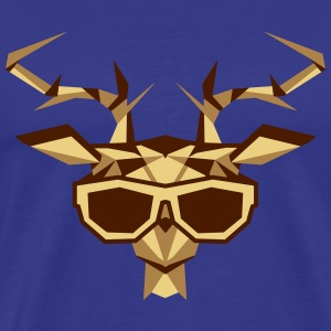 a multi-faceted deer head with sunglasses T-Shirts - Men's Premium T-Shirt