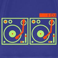 Design ~ I DJ - with 2 Turntables - flex print, 2 colors