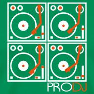 Design ~ I DJ - 4 Turntable - PRO DJ - 2 color FLOCK print