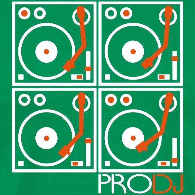 I DJ - 4 Turntable - PRO DJ - 2 color FLOCK print