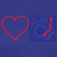 Design ~ I DJ - Love DJ - Heart DJ - 2 color flex pring