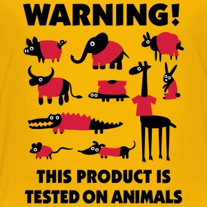 Warning this product is tested on animals 3clr Tee shirts - T-shirt Premium Ado