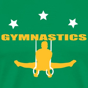 gymnastics men T-shirts - Herre premium T-shirt