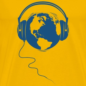 Sun yellow Planet Audio T-Shirts - Men's Premium T-Shirt