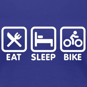 Eat sleep bike T-shirts - Vrouwen Premium T-shirt