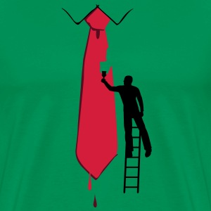 Painter on a ladder and tie - Men's Premium T-Shirt