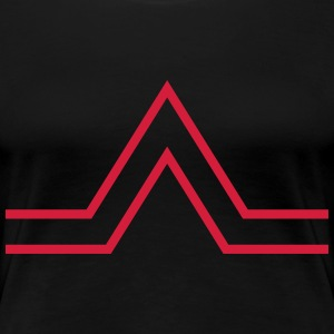 triangle sign T-shirts - Vrouwen Premium T-shirt