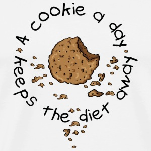 A cookie a day, keeps the diet away T-Shirts - Men's Premium T-Shirt