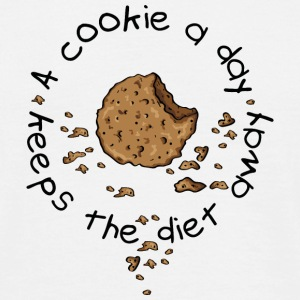 A cookie a day, keeps the diet away T-shirts - Herre-T-shirt