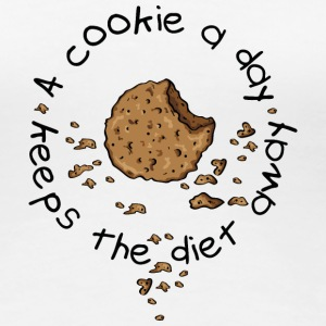 A cookie a day, keeps the diet away T-Shirts - Women's Premium T-Shirt