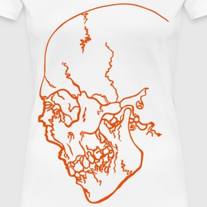 skull abstract by customstyle - T-shirt Premium Femme