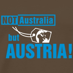 Not Australia but Austria T-skjorter - Premium T-skjorte for menn